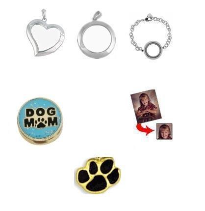 Dog Mom Charm Locket Set