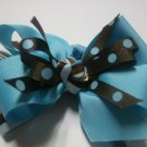 Blue And Teal Bow