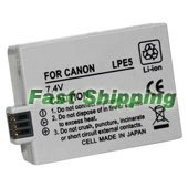 New Canon Rechargeable Battery Pack LP-E5, LPE5, 1 Year Warranty