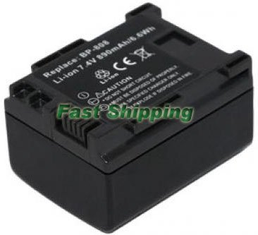 New Canon Camcorder Battery Pack BP-808, 1 Year Warranty