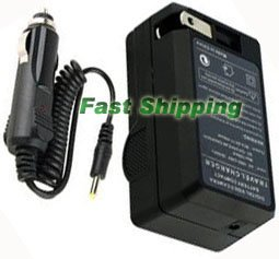 AC/DC Battery Charger for Samsung SLB-10A Battery