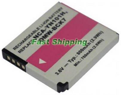 Panasonic DMW-BCK7 camera battery, new battery 1-year warranty