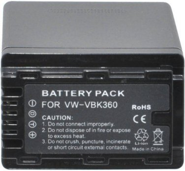 Panasonic HC-V500 HC-V500K HC-V500M HC-V500MK rechargeable camcorder battery