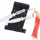 "Set of 2 5"" Throwing Knives with Wrist Sheath"
