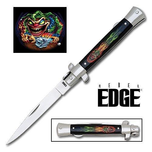 Rebel Edge Folding Stiletto Knife & Poster - Jack In The Box