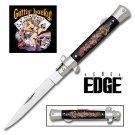 Rebel Edge Folding Stiletto Knife & Poster - Getting Lucky