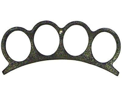 Brass Knuckles Paper Weight - Black