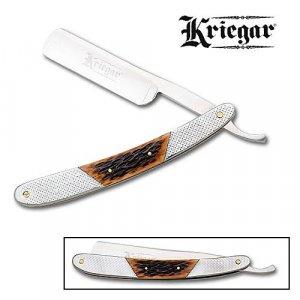 Kriegar Folding Straight Razor - Stag Bone