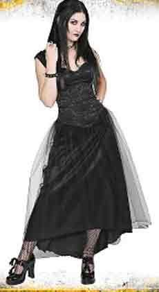 LIP SERVICE Gothic Lace Up Corset Brocade Medieval Renaissance Dress Gown S Small NEW With Tags