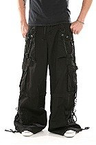 TRIPP NYC Black BONDAGE Pants Shorts Handcuff Studs Chain 2X Gothic Emo NEW WITH TAGS