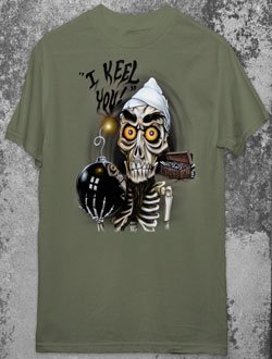 JEFF DUNHAM ACHMED Dead Terrorist Military Green T-Shirt L Large Gothic Punk Emo Ventriliquist NEW