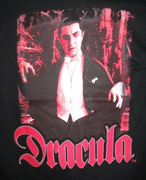 DRACULA T-Shirt BELA LUGOSI Vampire Gothic Emo S Punk Black Blood Red NEW WITH TAGS