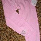 Victoria's Secret Bling Pink Diamante Heart Love Pants Sweats PJ XS X-Small NEW