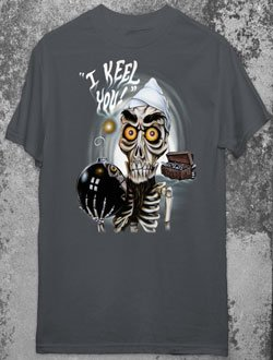 JEFF DUNHAM ACHMED Dead Terrorist Charcoal Gray T-Shirt L Large Gothic Punk Emo Ventriliquist NEW