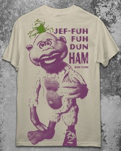 Licensed JEFF DUNHAM PEANUT T-Shirt XXL 2X Punk Emo Ventriliquist NEW