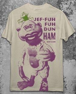 Licensed JEFF DUNHAM PEANUT T-Shirt L LARGE Punk Emo Ventriliquist NEW