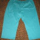 LANE BRYANT Venezia Teal Green Casual Pants Sweats Lounge PJ Plus 5X Retail $35 NEW WITH TAGS