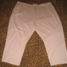 LANE BRYANT Woman LBW Beige Casual Pants Sweats Lounge PJ Plus 5X Retail $25 NEW WITH TAGS