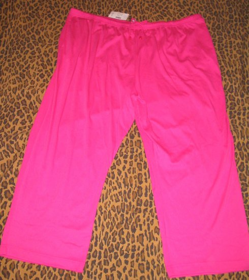 LANE BRYANT Woman LBW Hot Pink Casual Pants Sweats Lounge PJ Plus 5X Retail $25 NEW WITH TAGS