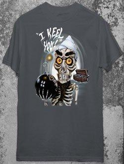JEFF DUNHAM ACHMED Dead Terrorist Charcoal Gray T-Shirt XL X-Large Gothic Punk Emo Ventriliquist NEW