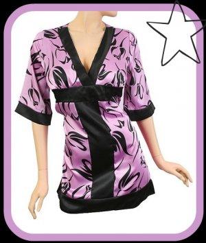Kimono Style Purple Top Size Medium