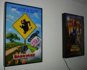 LIGHTED MOVIE POSTER FRAME LIGHTBOX Arcade Game Room
