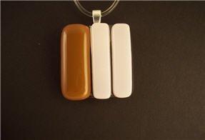 Fused Glass Pendant: Design #51