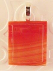 Fused Glass Pendant: Design #39