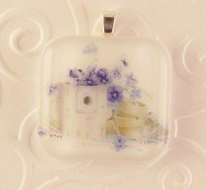 Fused Glass Pendant: Design #83