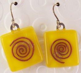 Fused Glass Earrings #173
