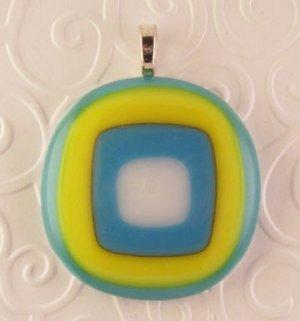 Fused Glass Pendant #277