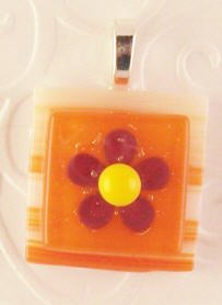 Fused Glass Pendant #317
