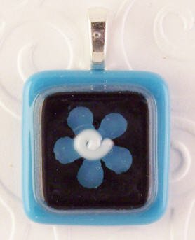 Fused Glass Pendant #349