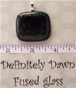 Fused Glass Pendant #251