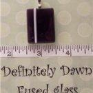 Fused Glass Pendants: Design #149