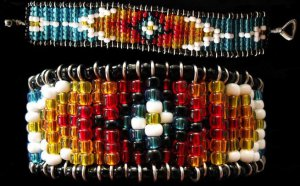 Bead Weaveless Bracelet - Sunburst