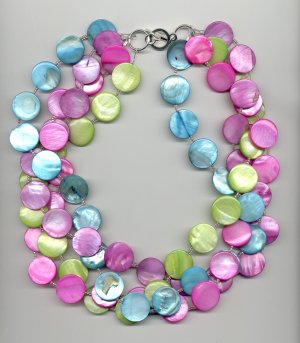 Belle Line - Multi-strand Mother of Pearl