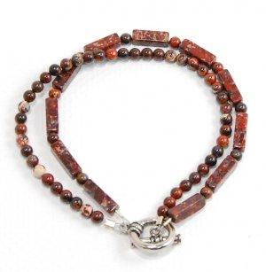 Red Agate Doublestrand Bracelet