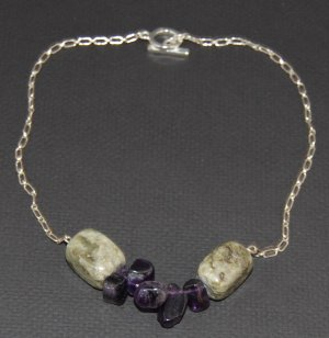 Amethyst and Green Jasper Necklace