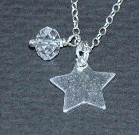 Sterling Silver Star and Swarovski Crystal