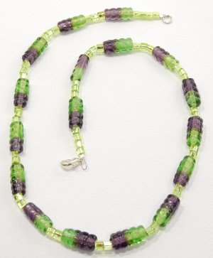 Green and Purple Necklace