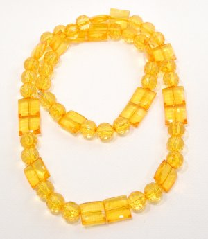 Amber Resin Necklace