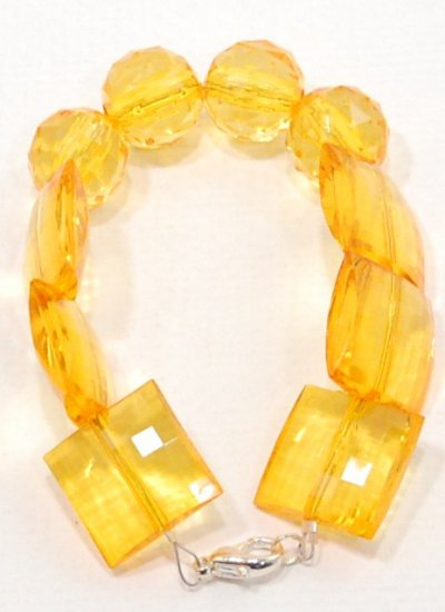 Mixed Amber Resin  Bracelet
