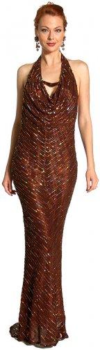 V-Top Fully Beaded Formal Dress item #s1060
