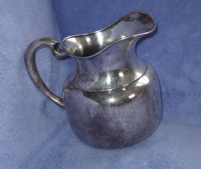 F B Rogers silver pitcher