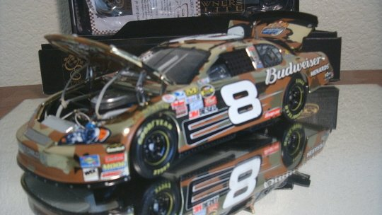 DALE EARNHARDT JR 2007 BUD CAMO COLORCHROME 1/24 ACTION RCCA OWNERS ELITE NASCAR DIECAST 1 of 2,007