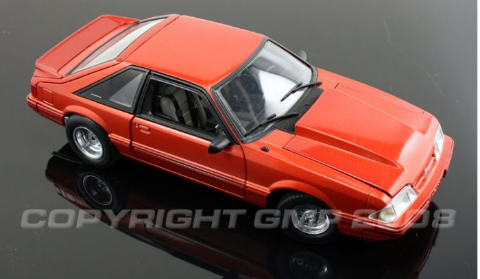 GMP 1/18 1989 MUSTANG DRAG DIECAST COLLECTIBLE CAR METALLIC COPPER 1 of 500