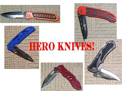 WHOLESALE LOT-5 AMERICAN HEROES Folders Stainless NEW!!
