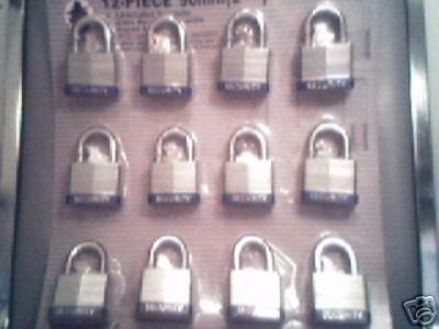 "50 mm Padlock - 12 pc keyed alike - 2"" padlocks"