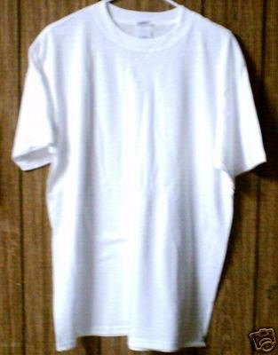5 qty Medium Size PLAIN WHITE T-SHIRTS